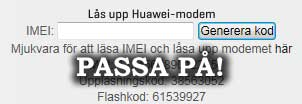 Huawei modem upplsning
