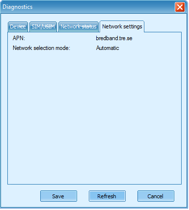 mobile partner - diagnostics windows network network settigns