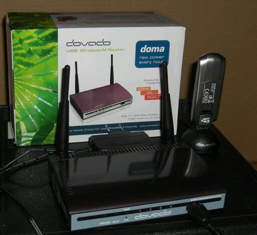 Dovado DOMA front of the router